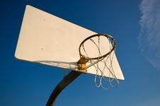Free Basketball Hoop With Sky Royalty Free Stock Photo - 2807795