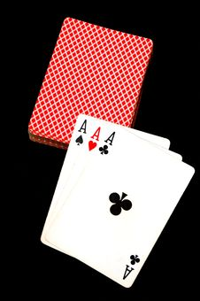 Free Three Aces Royalty Free Stock Images - 2808759