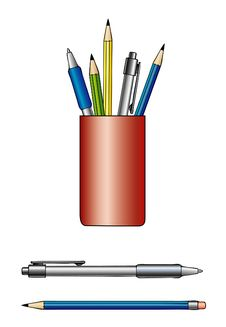 Free Pens And Pencils Stock Image - 2809731