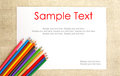 Free Paper On Burlap With Pencils & Text Royalty Free Stock Photo - 28007515