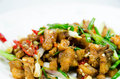 Free Spicy Fried Pork With Chili Royalty Free Stock Image - 28009356