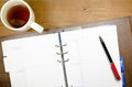 Free Tea Cup With Notebook Royalty Free Stock Photography - 28009447