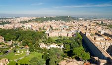 View Of Rome Cityscape Stock Photos