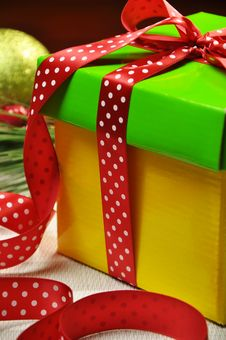 Free Bright Color Holiday Present Gift Close-up Stock Photos - 28000673