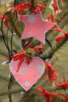 Free Christmas Heart Royalty Free Stock Image - 28000716