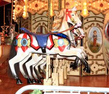 Free Carousel Horses Stock Photo - 28001550