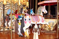 Free Four Pony Carosel Stock Image - 28001551