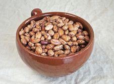Pinto Beans In Ceramic Mug Royalty Free Stock Images