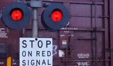 Free Railroad Crossing Stock Photo - 28002840