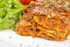 Free Meat Lasagna Closeup 1 Royalty Free Stock Photo - 28003015