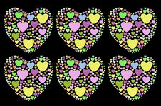 Free Colorful Heart Shape Stock Images - 28005404