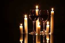 Free Wine And Candles Stock Photos - 28006863