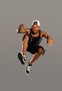 Free Hip Hop Style Dancer Jumping Royalty Free Stock Image - 28012186
