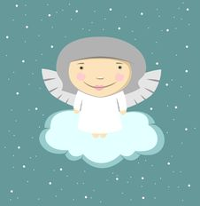 Free Angel On A Cloud Stock Images - 28011694