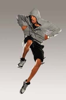 Free Hip Hop Dancer Jumping Royalty Free Stock Photos - 28012198