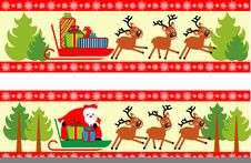 Christmas Background Set Stock Photos