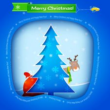 Free Vector Blue Christmas Card Stock Images - 28014154