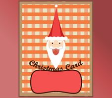 Free Christmas Card Happy Santa Royalty Free Stock Image - 28015156