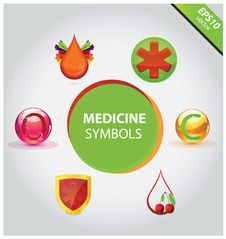 Free Medical Icons And Symbols Vector Set Stock Photos - 28015413