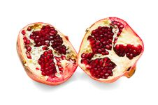 Free Pomegranate  On White Background Stock Photos - 28016813
