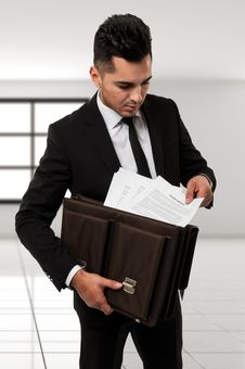 Businessman With Contract Royalty Free Stock Photo
