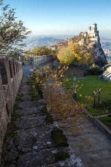 Castle Of San Marino Stock Photos
