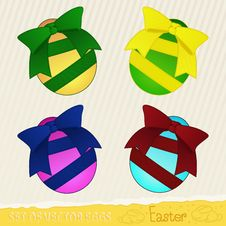 Set Of Vector Eggs Royalty Free Stock Photography
