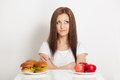 Free Woman Sitting Behind The Table With Food Stock Photo - 28020210