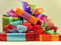 Free Bright Color Present Festive Gifts Royalty Free Stock Image - 28021766