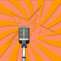 Free Retro Microphone On Paper Background Stock Photography - 28022612