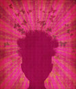 Free Grunge Head Silhouette Royalty Free Stock Image - 28022686