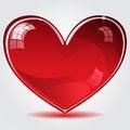 Free Red Shiny Heart Stock Image - 28023801