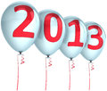 Free New Year 2013 Balloons Holiday Party Decoration Stock Photo - 28024470