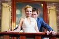 Free Happy Bride And Groom In Interior Stock Photo - 28026130