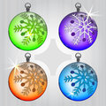 Free Four Colorful Ball Series With Snow Motive Stock Photos - 28026253