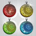 Free Colorful Ball Decoration With Retro Motive Stock Photography - 28026262