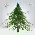 Free Green Christmas Classical Tree With Stars Royalty Free Stock Image - 28026556