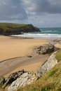 Free Porth Joke Beach Next To Crantock Cornwall Stock Photos - 28027113