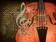 Free Vintage Violin Music Background Stock Photography - 28022572