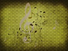 Free Green Retro Music Background Stock Photography - 28022682