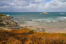 Free Autumn At Crantock Bay Cornwall Coast England Stock Photography - 28027232