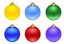 Free Set Of Christmas Decorations Balls Royalty Free Stock Photos - 28027948