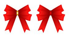 Free Red Ribbon Tied In A Bow, Stock Photos - 28027973