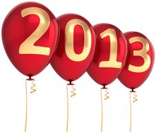Free New Year 2013 Party Balloons Beautiful Decoration Royalty Free Stock Photography - 28027997