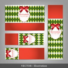 Invitation For Christmas And New Year. Royalty Free Stock Photography