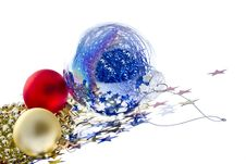Free Star Christmas Balls Stock Photo - 28034080
