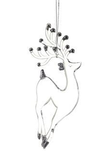Free Glass Christmas Reindeer Stock Image - 28034121
