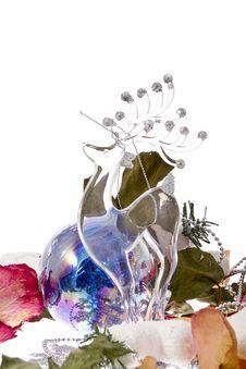 Free Glass Christmas Deer Stock Photo - 28035200