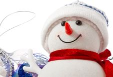 Free Snowman Face Close-up Royalty Free Stock Photo - 28035675