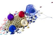 Christmas Baubles Firework Stock Image